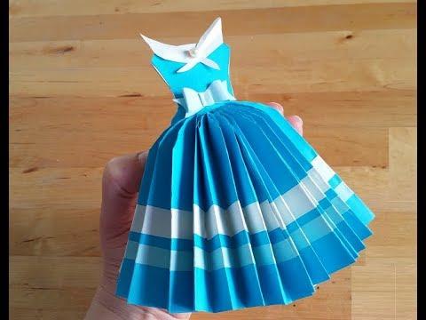 """DIY: Открытка """"платье"""" своими руками. Подарки и поделки ко Дню Рождения"""