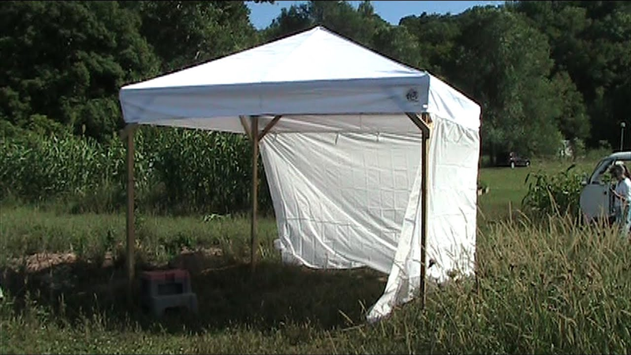 & Build a Wooden Canopy Frame for your Broken Metal Canopy - YouTube