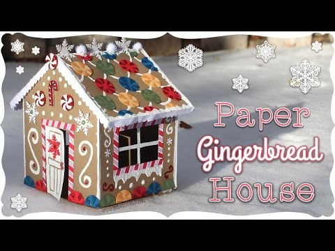 Paper Gingerbread House Tutorial! | Craftmas 🍬