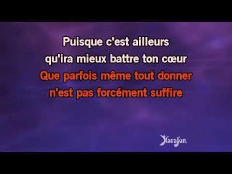 Karaoké Puisque tu pars - Jean-Jacques Goldman *