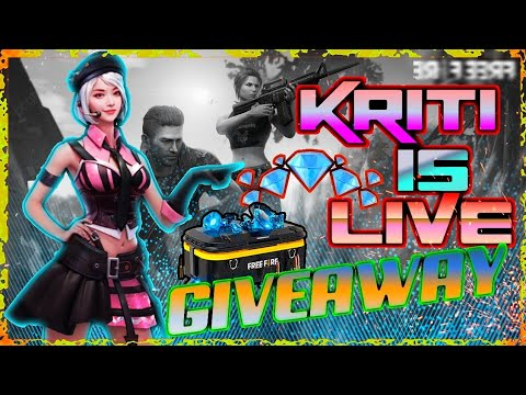 FREE FIRE  GIRL LIVE GAMEPLAY WITH SUBSCRIBERS😇  DIAMOND GIVEAVWAY JOIN FAST😍- KRITI SINGH GAMING