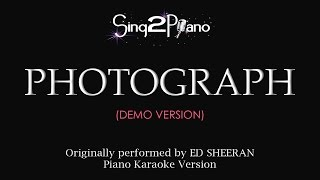 Video Photograph (Piano karaoke demo) Ed Sheeran download MP3, 3GP, MP4, WEBM, AVI, FLV Januari 2018