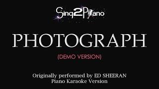 Photograph Piano karaoke demo Ed Sheeran