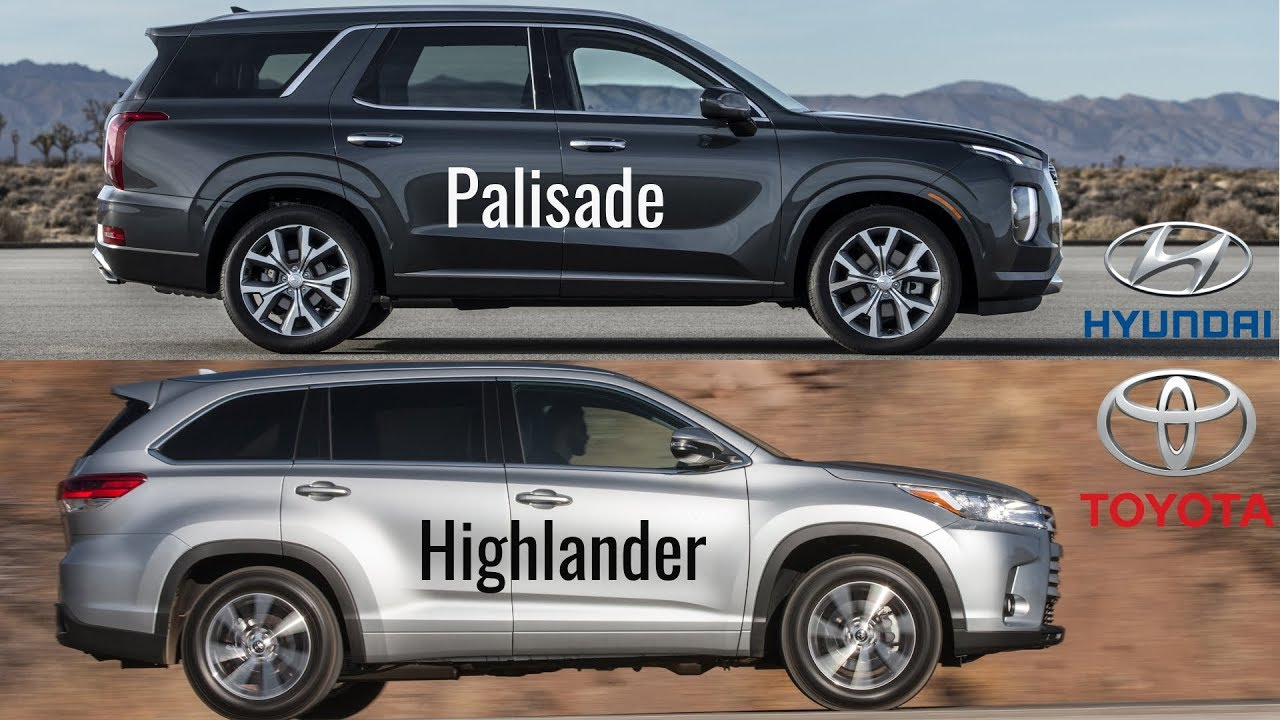 Hyundai Palisade vs Toyota Highlander XLE - YouTube