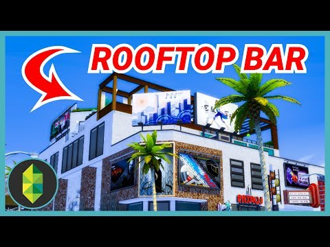 LA STYLE ROOFTOP BAR (Sims 4 Build)