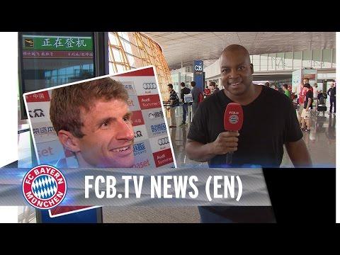 FC Bayern victory over Valencia, Arrival Shanghai
