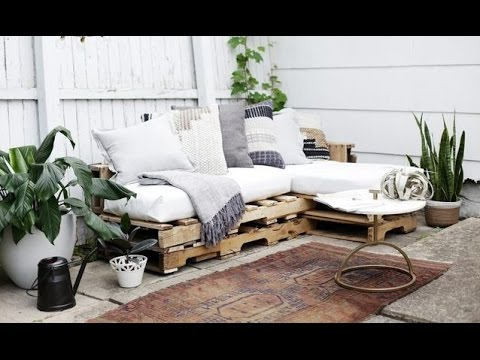 Diy Wood Pallets Outdoor Couch Cushions Home Decor Tutorial Youtube