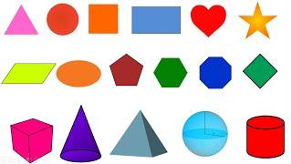 Học tiếng Anh chủ đề các hình dạng/ Shapes/ English Online
