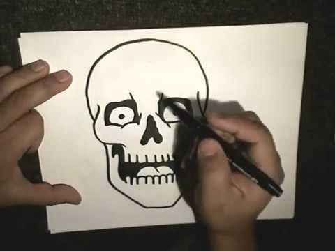видео: Как нарисовать скелета