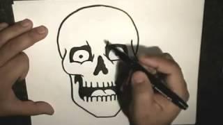 Как нарисовать скелета(В данном видео показывается как нарисовать скелета фломастером ПОМОЩЬ *QIWI 79879786410 заранее спасибо !, 2013-11-06T13:35:15.000Z)