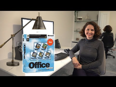 Mum Tries Out Microsoft Office 95 In Windows 95 (1995)