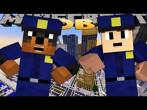 Minecraft Jobs - Sharky And Scuba Steve - BIKINI BOTTOM POLICE W/ Donut The Dog