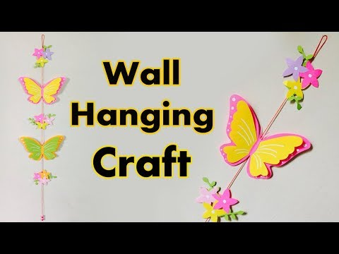 Wall Hanging Craft with Paper Butterfly | DIY Paper Butterfly Craft For Kids