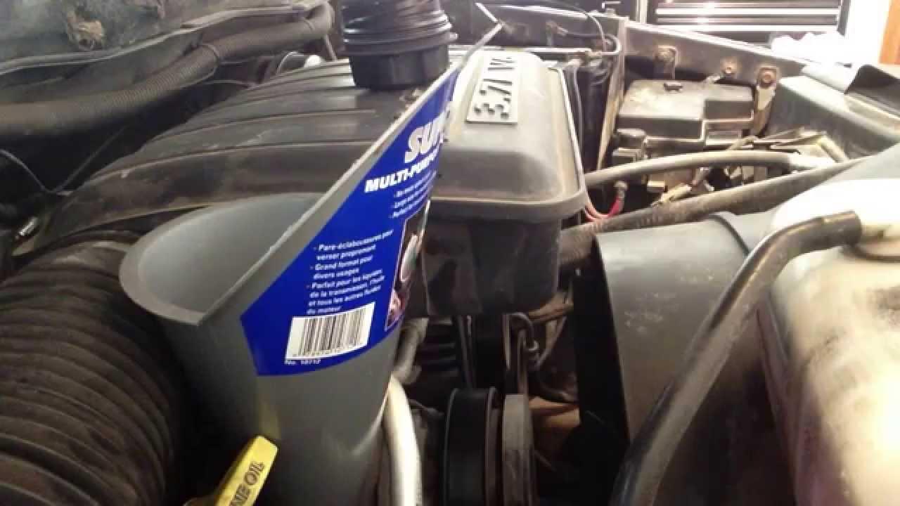 2004 Dodge Ram 1500 3 7l V6 Oil Change Youtube