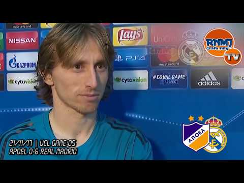 LUKA MODRIC post Apoel 0-6 Real Madrid | Champions League (21/11/2017)
