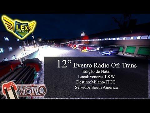 12 Mega Comboio Radio Ofr Trans Edição de Natal ( Caminhão Renalt Magnum )