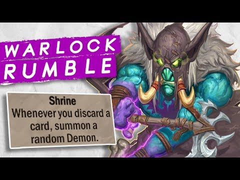 WARLOCK RUMBLE RUN! For the Bats! | Singleplayer | Hearthstone