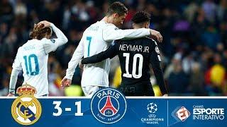 Melhores Momentos - Real Madrid 3 x 1 PSG - Champions League (14/02/2018)
