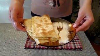 Сладкий десерт из лаваша и творога