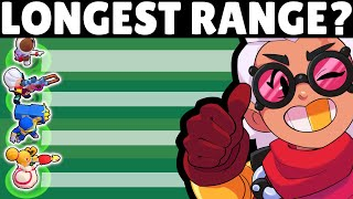 Brawl Stars OLYMPICS! | 47 Brawlers for LONGEST Range!