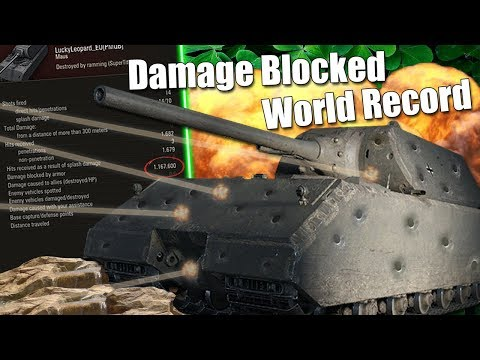 WoT || Damage Blocked World Record!? || 1.167.600 DMG Blocked In One Game