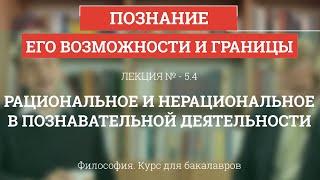 5.4 Рациональное и нерациональное в познавательной деятельности - Философия для бакалавров