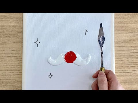 Merry Christmas   Easy Acrylic painting for kids and beginners   Tutorial   #71