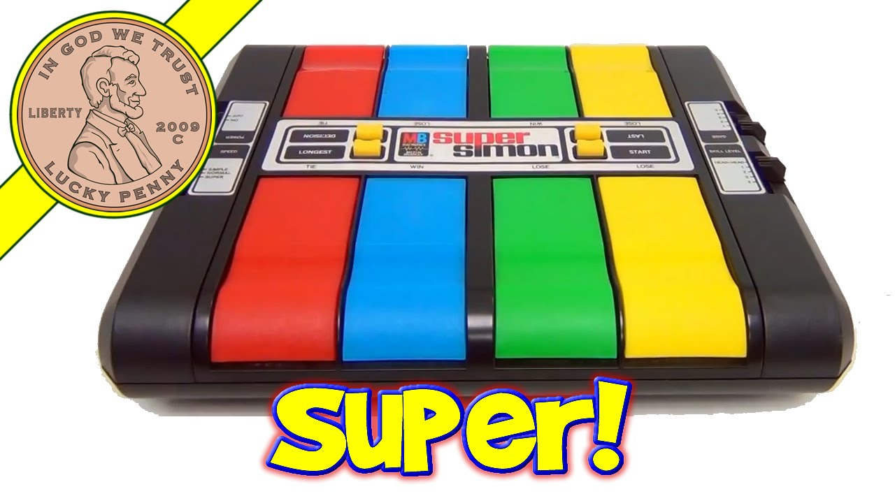 Super Simon Electronic Milton Bradley Game Multi Player Simon With