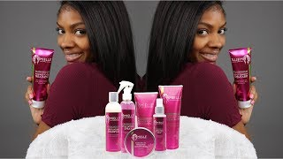 How To Achieve Silky, Bone Straight Hair using Mielle Organics Mongongo Oil Collection