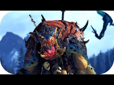 Total War: Warhammer II 🐘 Close Up 🐘 Norsca vs. Wood Elves |