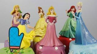 Готовим Пирожные Принцесса Эльза Холодное Сердце Рапунцель Принцессы Аврора Ариель Бель Для Детей