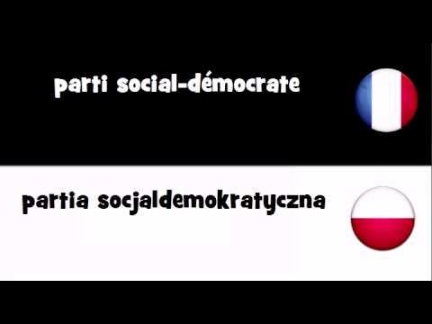 VOCABULAIRE EN 20 LANGUES = parti social-démocrate