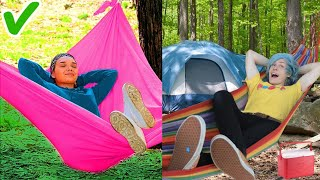 Trying 28 CAMPING HACKS THAT ARE ACTUALLY GENIUS By 5 Minute Crafts