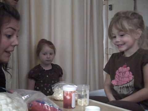 Explaining leukemia to Ashley (using candy)