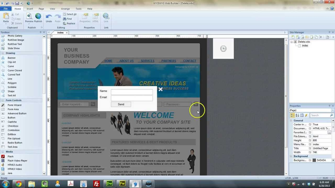 Wysiwyg Web Builder 9 Tutorial Using Timed Event