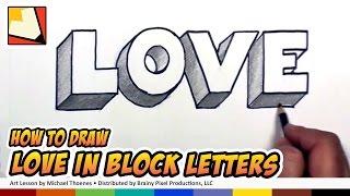 كيفية رسم الحب في كتلة 3D الحروف الكتابة على الجدران الحروف | BP