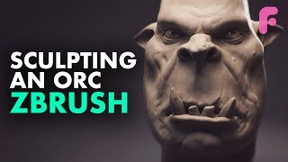 Sculpting a Simple Orc in ZBrush - Beginners Sculpting Tutorial