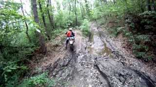 enduro honda xr250r forest and mountains ride