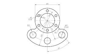 создание 2D чертежа детали корпуса в AutoCAD 2017