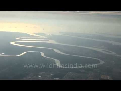 Oxbow lake about to be formed in Irrawaddy Delta
