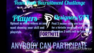Official TeamPosh Recruitment Challenge( Fortnite Team Recruiting)