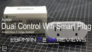 New! Dual Outlet Alexa and Google Home Wifi Smart Switch from Avatar Systems