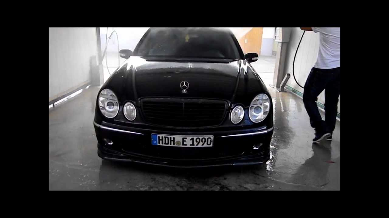 wash the mercedes benz w211 duran tuning youtube. Black Bedroom Furniture Sets. Home Design Ideas
