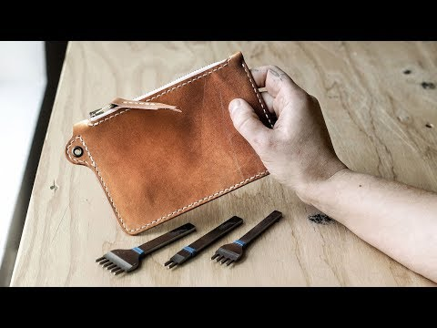 Making a Leather Utility Zip Pouch (WITH PATTERN!)