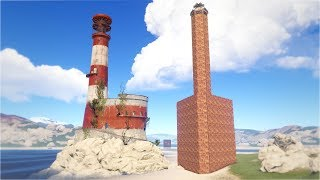 THEY BUILT the LIGHTHOUSE as a BASE, so I RAIDED it!