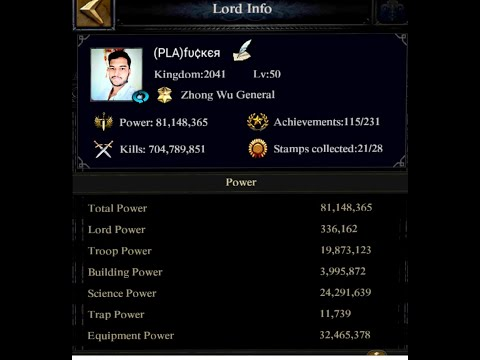 Clash Of Kings :- How To Increase Lord's Base Power