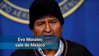Evo Morales sale de México rum…