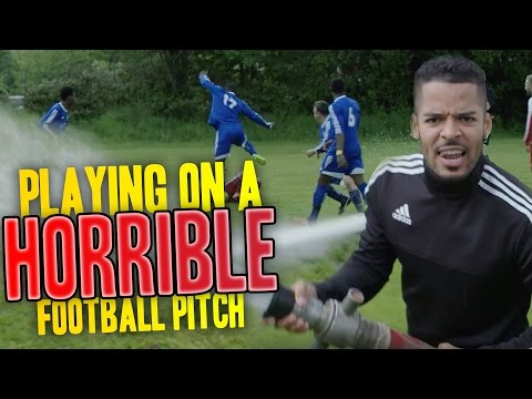 PLAYING ON A HORRIBLE FOOTBALL PITCH!