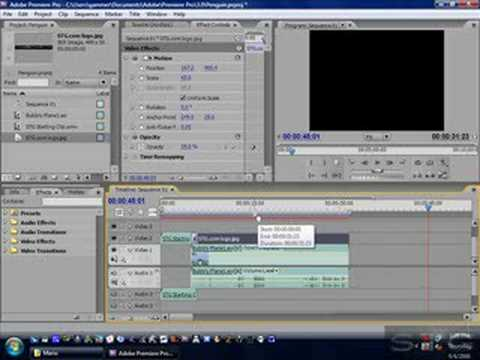 How to use adobe premier pro cs3 part 4 adding watermark basic how to use adobe premier pro cs3 part 4 adding watermark basic rendering ccuart Gallery