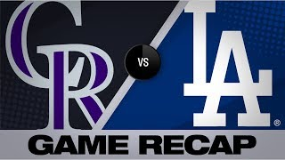 McMahon, Fuentes homer to assist in 4-2 win | Rockies-Dodgers Game Highlights 9/21/19